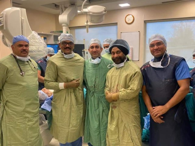 77-yr man undergoes TAVI surgery for aortic valve replacement