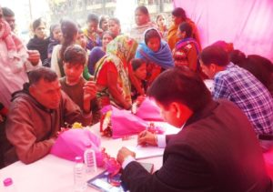 More than 350 people underwent screening, distributed free medicines