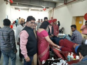 Shivanand Choubey Memorial Charitable Trust holdsBlood Donation Camp