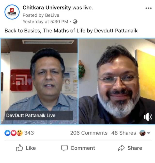 Chitkara University , Devdutt Pattanaik