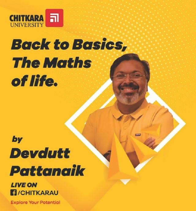 Chitkara University hosts Indian mythologist,speaker,illustrator&author Devdutt Pattanaik