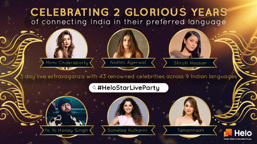 Helo Turns 2; Promises 3-day Celebration with a star-studded LIVE Marathon