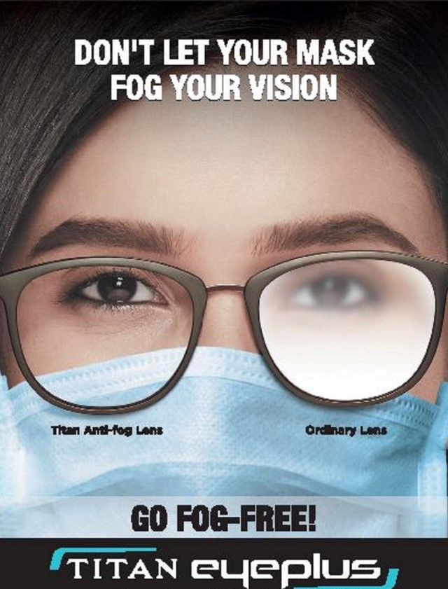 Titan Eyeplus ensures Comfort and Clear Vision with the new Anti-Fog Lenses