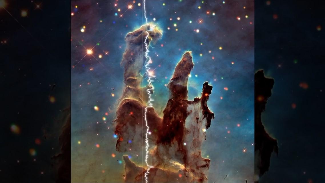 Listen to centre of Milky Way, 'Pillars of Creation'