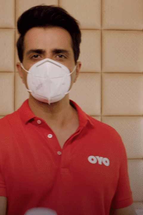 OYO Hotels&Homes ropes in Punjab's Sonu Sood as brand ambassador for 'Sanitised Before Your Eyes'campaign