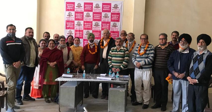 Mohyal Sabha - Mohali re-elects Sh. V.K. Vaid as President unanimously