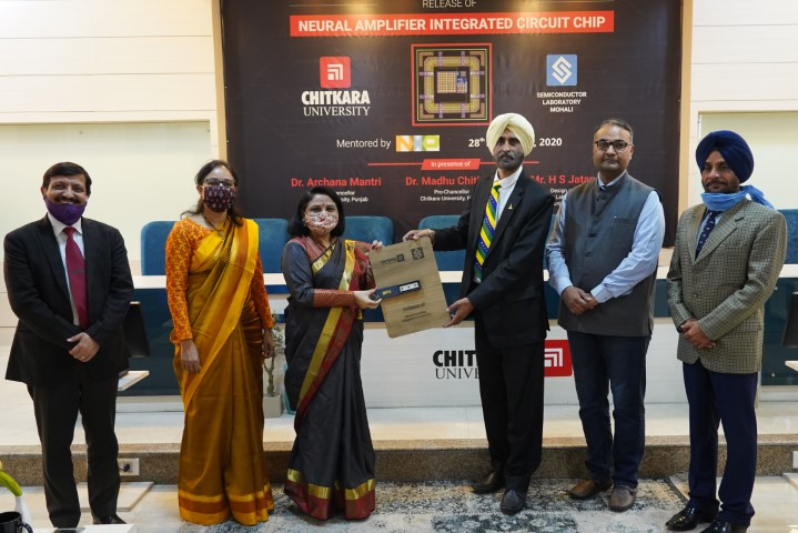Chitkara University in collaboration with SCL Mohali neural amplifier silicon chip