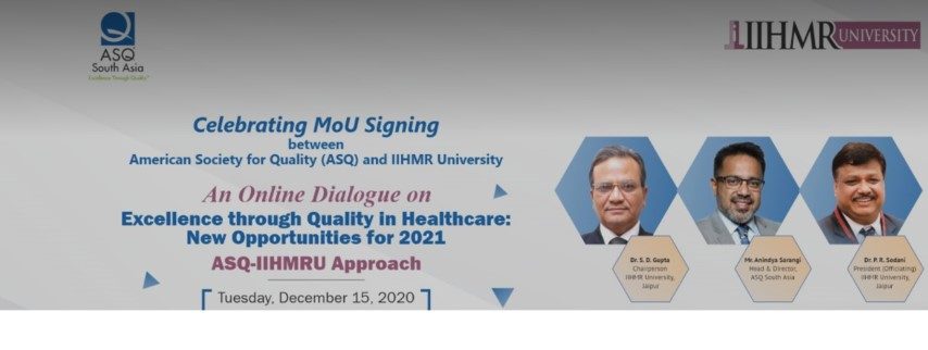 IIHMR University Signs MoU with American Society For Quality
