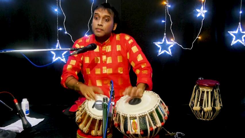 Crisp Tabla Recital marked the 26th Webaithak of Pracheen Kala Kendra