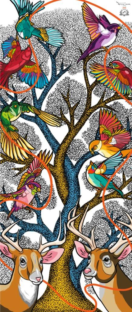 Gond artist Padma Shri BhajjuShyam partners with Singaporean artist Sam Lo