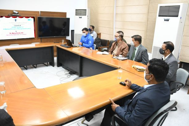 Manoj Parida launched Online Leave Module under the e-Human Resource Management System