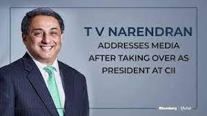 T V Narendran addresses media after taking over as President CII