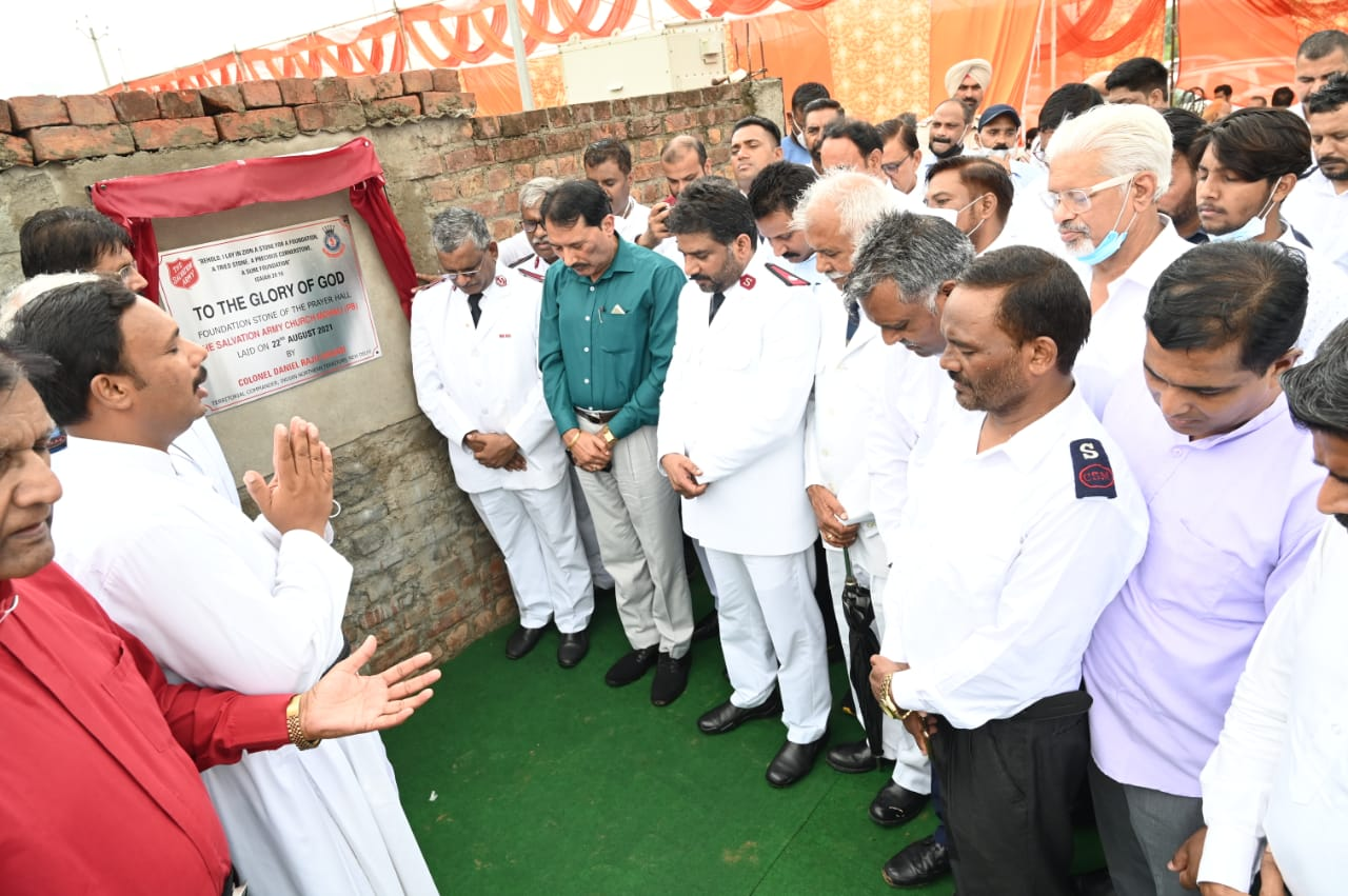 Request for Coverage: Foundation stone of Church laid in Sector 89