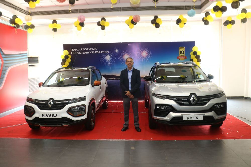 Renault Launches the all-new Kiger RXT(o) & kwid MY21 as part of 10th anniversary celebrations in india