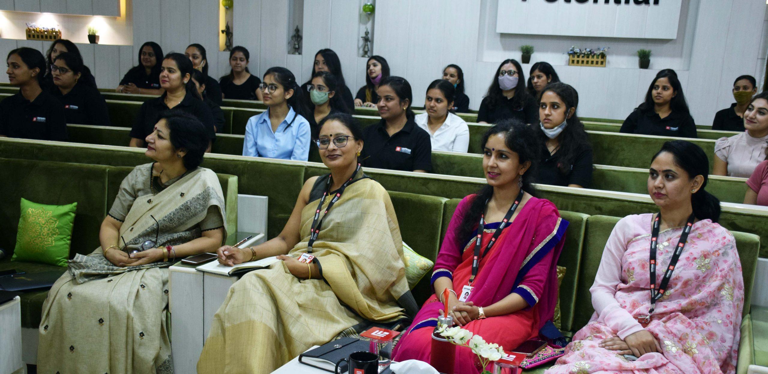 Chitkara University's Education program starts with Padam Bhushan Dr. Mallika Sarabhai's address
